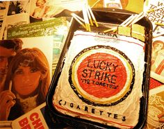 Lucky strike cake. Its toasted.