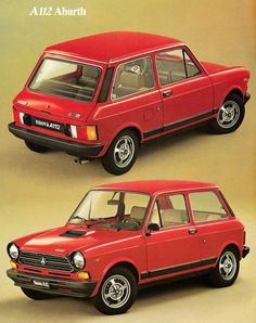 Autobianchi A 112 Abarth Fiat 850, Fiat Abarth, Vintage Bikes, Vintage Cars, Automobile, Good Looking Cars, Auto Retro, Car Advertising, Cute Cars
