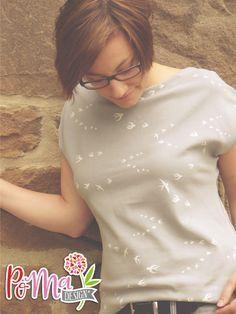 20 Minuten Shirt von muckelie genäht aus Schwalbenjersey mit Spitze
