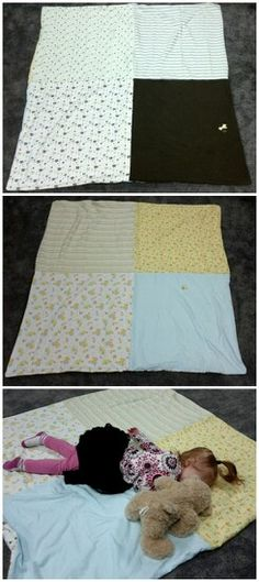 Need a way to use receiving blankets after they're too small for your growing baby? The idea struck me to make one large toddler bed sized blanket out of the 8 receiving blankets we had sitting useless in the girls room. Here's what I came up with: a double - side blanket (no interfacing /lining between the sides).  Makes a nice blanket for spring /summer /fall months because it's lighter weight this way. Enjoy. My toddler sure is! ;)