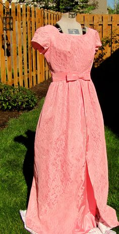 Vintage 1950's long lace dress women's size 8 by VintageFinds89, $90.00