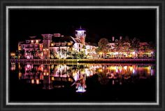 Celebration, Florida at night