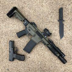 Airsoft Guns, Weapons Guns, Guns And Ammo, Tactical Pistol, Ar Pistol Build, Ar15 Pistol, Armas Airsoft, Battle Rifle, Custom Guns