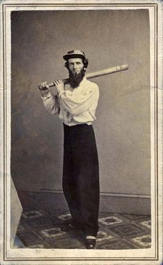 Unknown New York Area BaseBall player 1860.