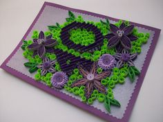 40th Birthday Card - quilled by: Handmade Tedy-Etsy