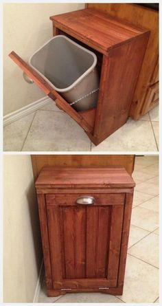 Teds Woodworking - Ana White Tilt Out Wooden Trash Bin - DIY Projects - Projects You Can Start Building Today Beginner Woodworking Projects, Popular Woodworking, Woodworking Crafts, Woodworking Classes, Woodworking Articles, Woodworking Patterns, Woodworking Workshop, Intarsia Woodworking, Woodworking Techniques