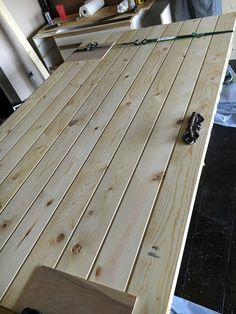 diy-barn-door-simple-materials-and-design-over-inspired-featured-on-remodelaholic - July 13 2019 at Making Barn Doors, Barn Doors For Sale, Building A Barn Door, Barn Door Decor, Diy Barn Door, Diy Door, Interior Sliding Barn Doors, Sliding Barn Door Hardware, Sliding Doors