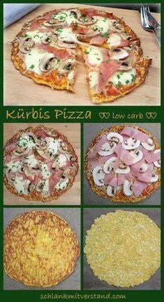 Kürbis Pizza low carb Und noch ein Pizza-Rezept Im Gemüse verstecken bin ich ja mit den Jahren schon wegen meiner Kinder sehr erfinderisch geworden. In dieser Pizza verstecken sich nun 200 g Kürbis. Schmeckt man gar nicht…. Zutaten pro Person: Für den Teig: 200 g Kürbis 100 g Hüttenkäse / körniger Frischkäse 1 Ei 1 EL Flohsamenschalen Salz Belag : 4 EL Pürierte Tomaten Salz, Pfeffer, Provencekräuter 2 Scheiben gekochten Schinken 2 große Champignons 125 g Mozzarella, geraspelt #abnehmen…