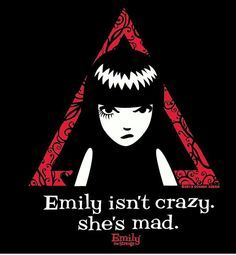 "{Comics} Emily the Strange. ""Emily isn't crazy she's mad"" Anime Chibi, Manga Anime, Emily The Strange, Ruby Gloom, Crazy Outfits, Goth Art, Macabre, Dark Art, My Idol"