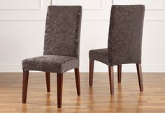 Love these for the dining room... not sure they would work on the chairs with arms, though.