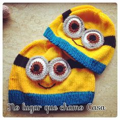 Minion knitted hats
