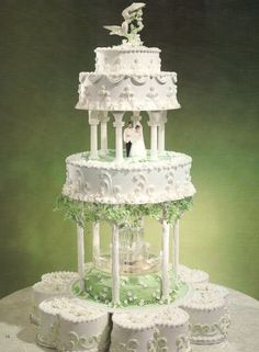Square Water Fountain Cake Stand Stairs