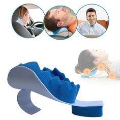 mousse /à m/émoire de forme Premium le soutien du cou et le soulagement de la douleur pour le voyage la relaxation Oreiller cervical Ultra Comfort en U Blue