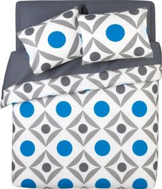 dot trellis bed linens in small spaces | CB2
