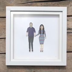 A portrait heading to California! 🇺🇸   #paperweddinganniversary #wedding #anniversary #gifts #paperdolls #chunkydumplingpaperdolls #illustration #birthdays #handmade #custommade #supportsmallbusiness #supportlocalartists #supportartists #familyportrait Pen And Watercolor, Watercolor Pencils, Wedding Anniversary, Anniversary Gifts, Deep Box Frames, Sharpie Pens, Portrait Illustration, Paper Dolls, My Drawings