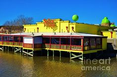 This Water Front View of Senor Frogs is in Myrtle Beach, South Carolina at Broadway At The Beach.   Photography by Bob Sample of PKS Images.