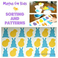 Early Years Maths Sorting and Patterns Early Years Maths, Bird Theme, Math For Kids, Play Ideas, Peter Rabbit, Beatrix Potter, Sorting, Homeschool, Easter