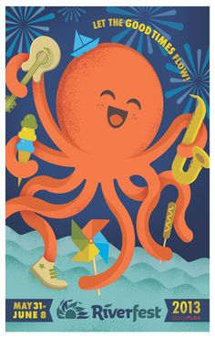 Wichita Riverfest 2013 Poster Design