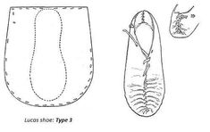 Irish shoe pattern for renactment or just house slippers.