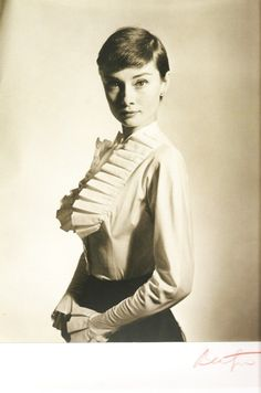 Audrey Hepburn photographed by Cecil Beaton.