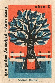 Vintage Czechoslovakian Matchbox Label by Solo Lipník Art Vintage, Vintage Posters, Vintage Ephemera, Matchbox Art, Vintage Packaging, Art Graphique, Art Design, Graphic Design Inspiration, Illustrations Posters