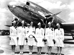 Transcontinental & Western Flight Attendants 1939