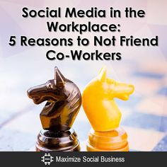 Social Media in the Workplace: The 5 top reasons why employees should not become Facebook Friends with co-workers, subordinates, supervisors and managers.