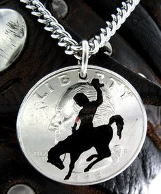 Bucking Horse Cut Coin by NameCoins on Etsy, $29.99