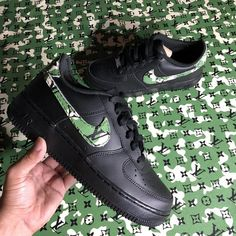 38329117303 Nike Camouflage LV Black Air Force 1  Customs  - limetliss Air Force 1