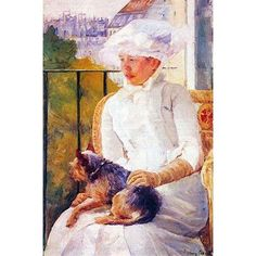 Buyenlarge 'Lady with Dog' by Mary Cassatt Painting Print Size: