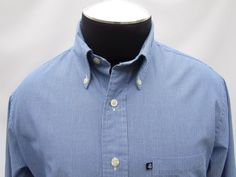 ~SOLD~Brooks Brothers 346 Men's Slim Fit Blue White Striped Golden Fleece Shirt, SZ L #BrooksBrothers #ButtonFront