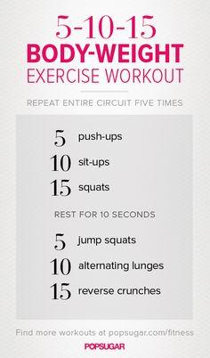 Quick workout - no equipment necessary