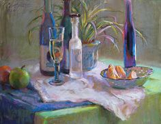 """CLEMENTIME SECTIONS, PASTEL ON PASTEL BOARD 18"""" X 24"""", BY JUDITH CARDUCCI. PRIVATE COLLECTION."""