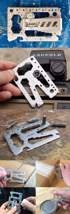 Lever Gear EDC Everyday Carry Multi Tool Card @thistookmymoney
