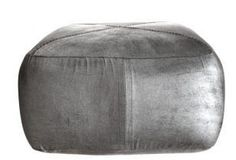 Silver Leather Pouf: Remodelista