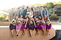 Purple ties and silver heels created a cohesive style statement ...