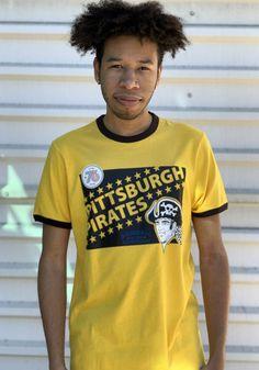 47 Pittsburgh Pirates Gold Short Sleeve Fashion T Shirt - 4807648 Pittsburgh Pirates, Pittsburgh Penguins, Pittsburgh Steelers, Pirates Gold, Pitt Panthers, Gold Shorts, Tees, Sleeves, Mens Tops