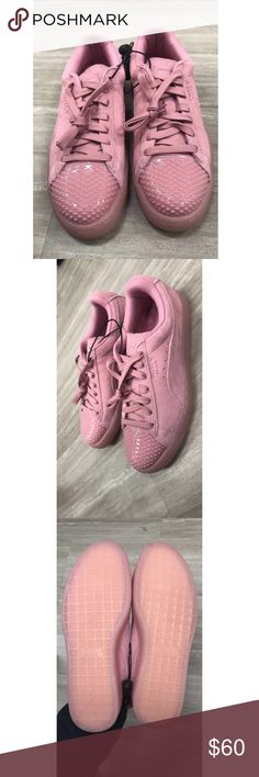 NEW Pink Suede Pumas Size 7.5 Women's Brand new, in perfect condition Puma Shoes Athletic Shoes