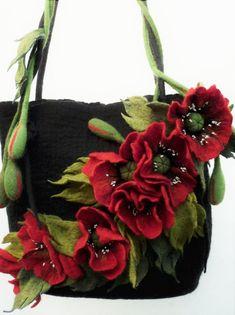 Designer handbags Poppy flower summer bag Gift for mom