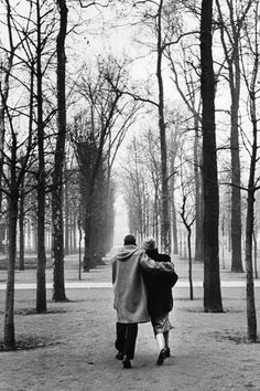 A couple in the park photographed by Marc Riboud, Paris, 1953: What we all want--two guys for gays if okay too.