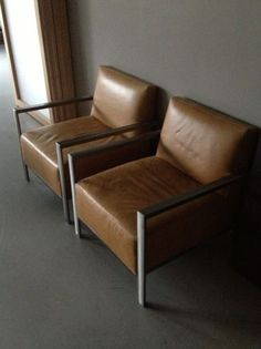 Minneapolis: Room and Board Zinc Leather Chairs Luxe (Pair $1500) $1500 - http://furnishlyst.com/listings/693499