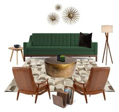 """""""Joybird Sofa (available at Fluff)"""" by fluffdesigns ❤ liked on Polyvore featuring interior, interiors, interior design, home, home decor, interior decorating, Linie Design, DwellStudio, Universal Lighting and Decor and Global Views"""