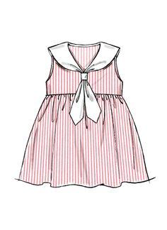 46 Ideas baby girl dresses pattern for 2019 Baby Girl Dress Patterns, Baby Dress Design, Summer Dress Patterns, Little Girl Dresses, Girls Dresses, Toddler Fashion, Girl Fashion, Dress Fashion, Costume Marin