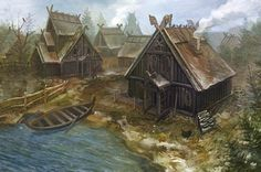 Viking Village. These buildings, especially in light of the horse adornments, are more typical of those which would be found in Kronerin (especially in the northern region of such).