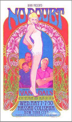 RARE Silver Variant Concert Poster NO DOUBT Ltd Ed Hand Signed 60s Artist  MASSE