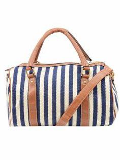 Geanta textila, in dungi, bleumarin Paris Summer, Meli Melo, Sicilian, Summer Collection, Holiday, Bags, Handbags, Vacations, Taschen