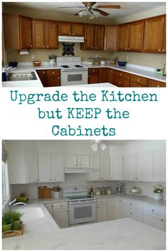 These homeowners saved money by upgrading their kitchen but KEEPING the cabinets and giving them a whole new look.  http://www.hometalk.com/l/nqm
