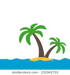 Palm Tree Stencil Tropical Sun Surf Turf Beach Cafe Hawaii Home Decor Art Signs