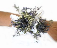 Organically French Blue Dried Lavender Wrist by naturelview, $21.00