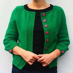Gorgeous- new cardi pattern from tora frøseth design.